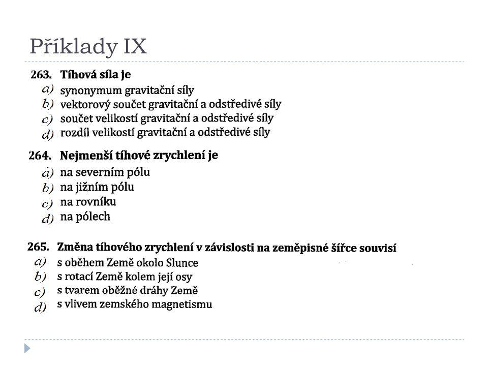 Příklady IX