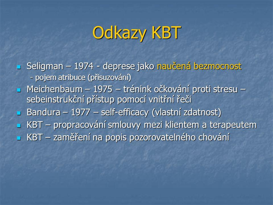 Odkazy KBT Seligman – 1974 - deprese jako naučená bezmocnost