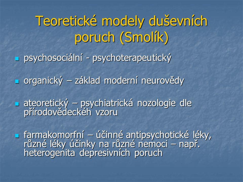 Teoretické modely duševních poruch (Smolík)