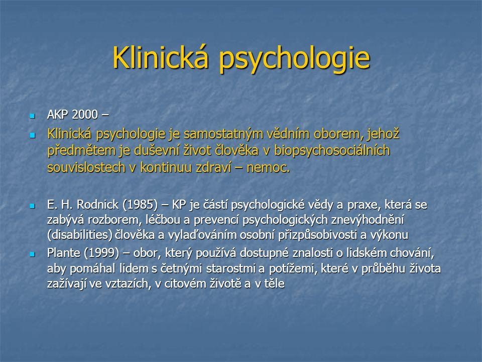 Klinická psychologie AKP 2000 –