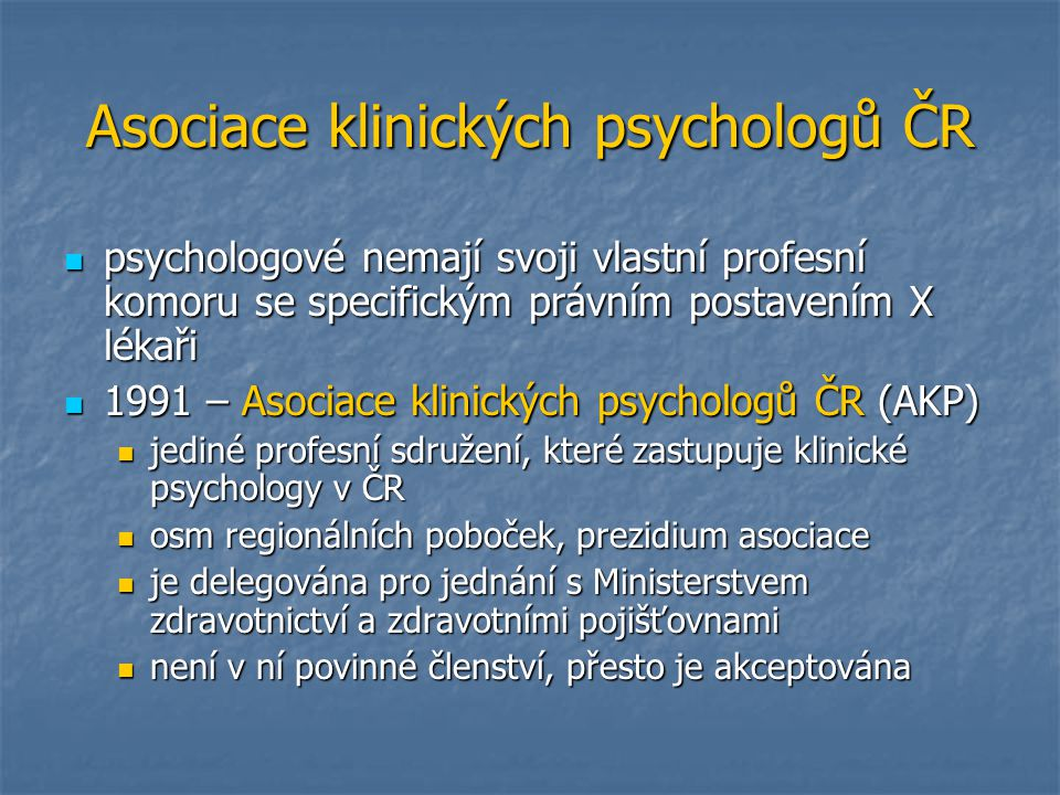 Asociace klinických psychologů ČR