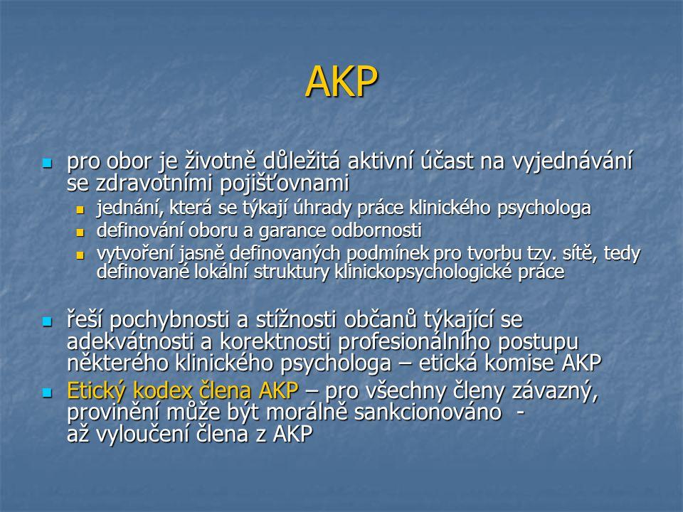 AKP pro obor je životně důležitá aktivní účast na vyjednávání se zdravotními pojišťovnami.