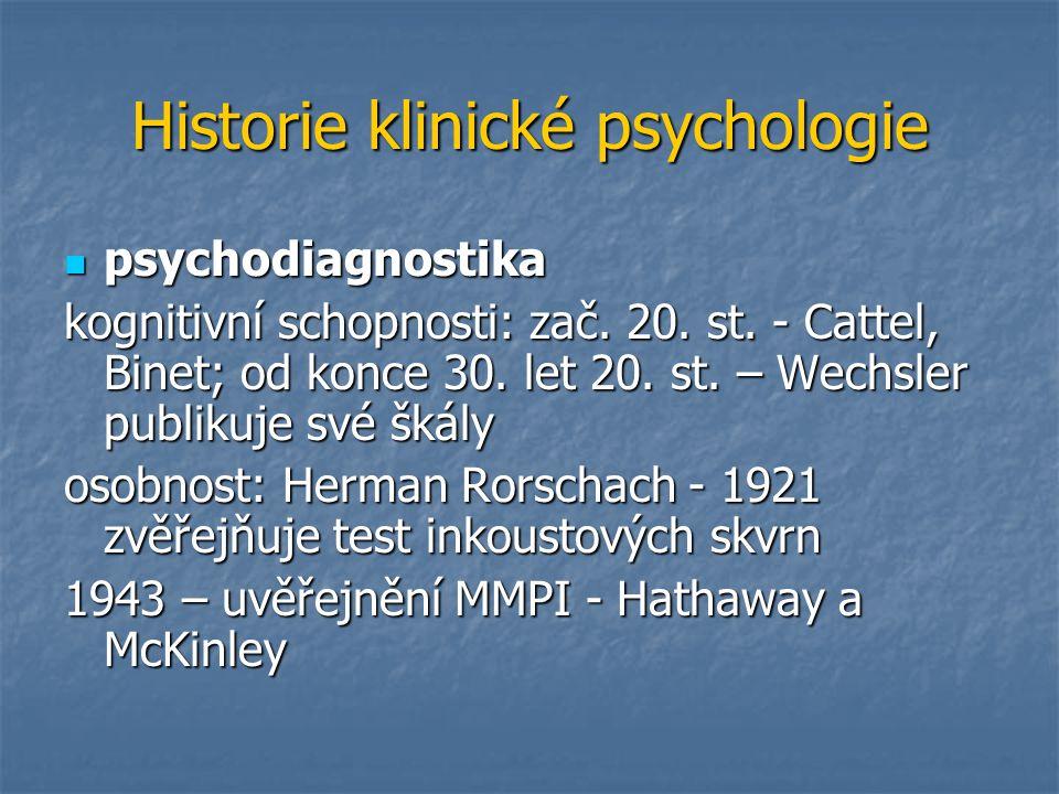 Historie klinické psychologie