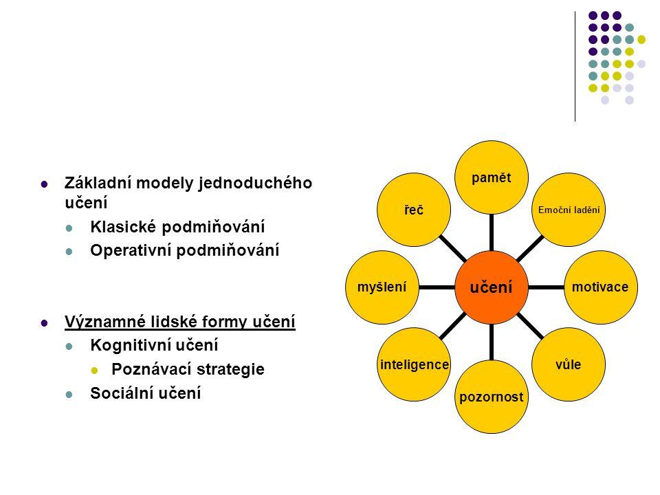 Základní modely jednoduchého učení