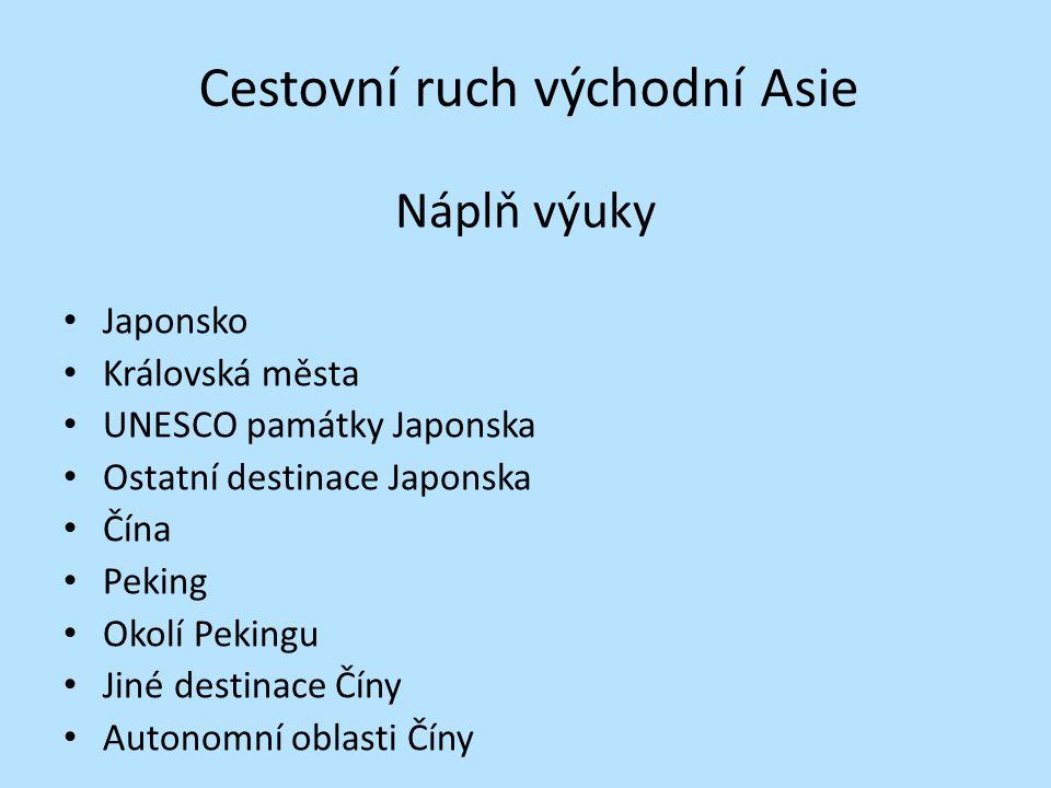 Cestovní ruch východní Asie