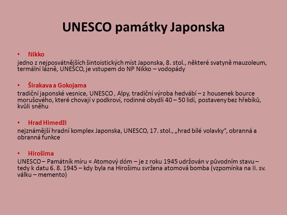 UNESCO památky Japonska