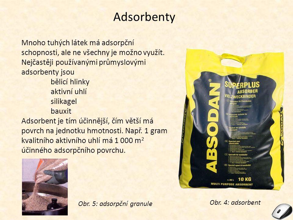 Obr. 5: adsorpční granule