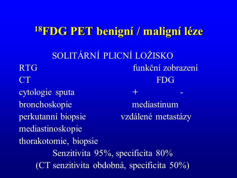 18FDG PET benigní / maligní léze