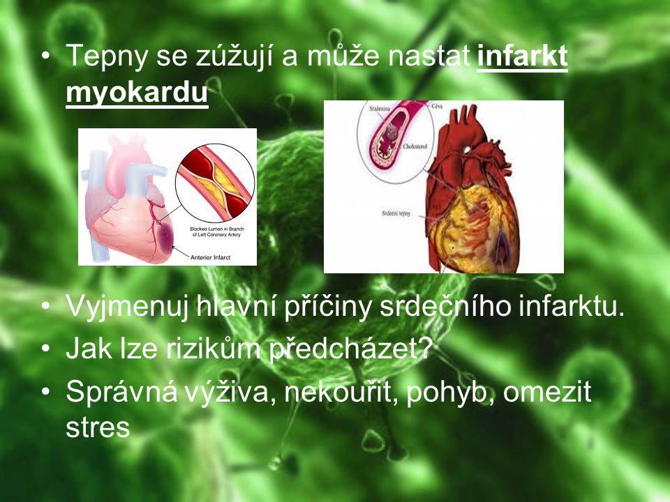 Tepny se zúžují a může nastat infarkt myokardu