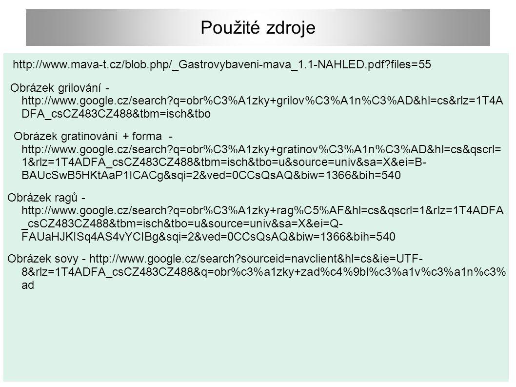 Použité zdroje http://www.mava-t.cz/blob.php/_Gastrovybaveni-mava_1.1-NAHLED.pdf files=55.