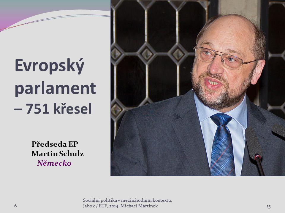 Evropský parlament – 751 křesel