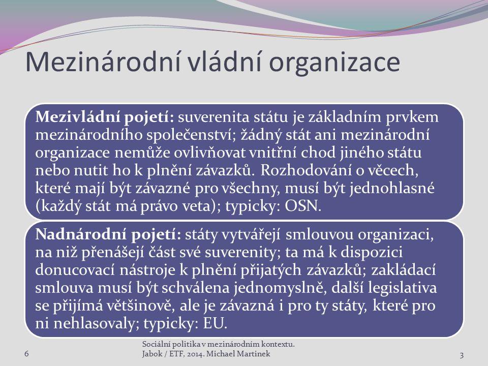 Mezinárodní vládní organizace