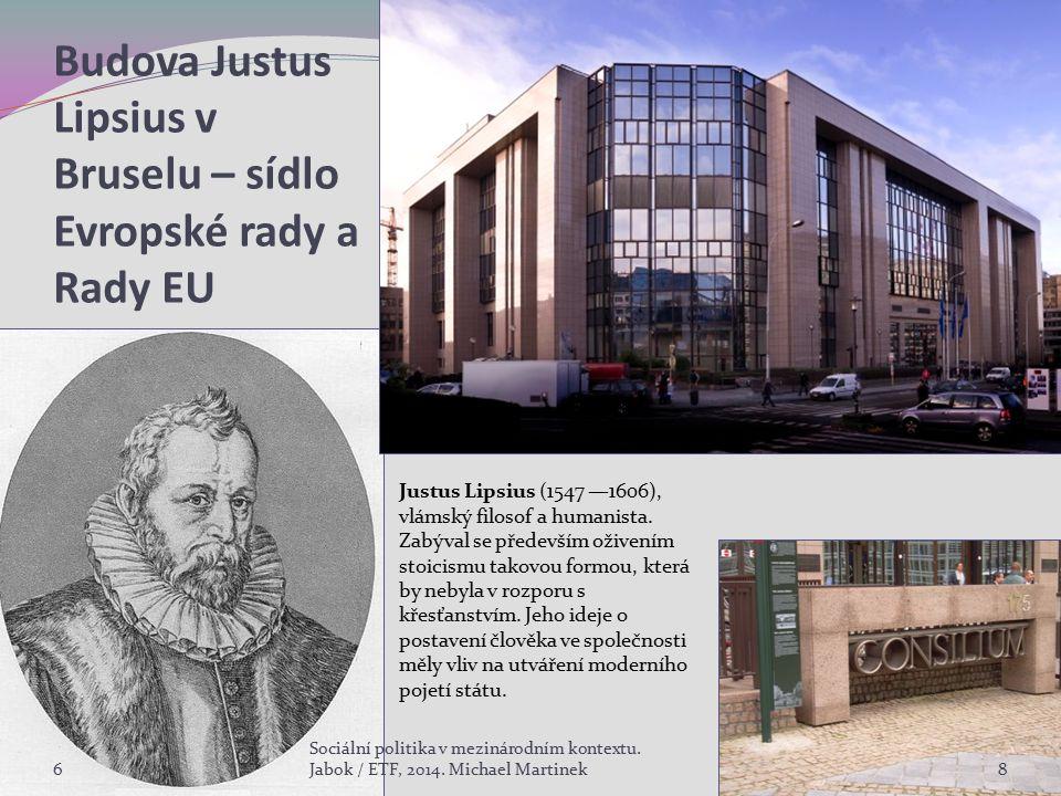 Budova Justus Lipsius v Bruselu – sídlo Evropské rady a Rady EU