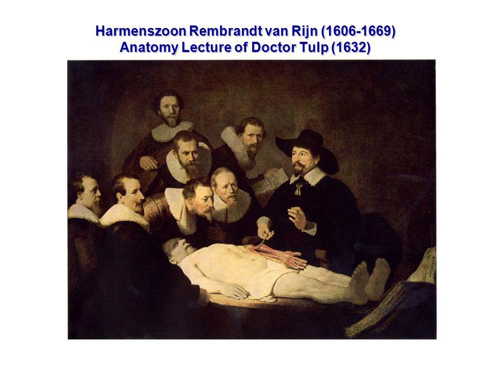 Harmenszoon Rembrandt van Rijn (1606-1669) Anatomy Lecture of Doctor Tulp (1632)