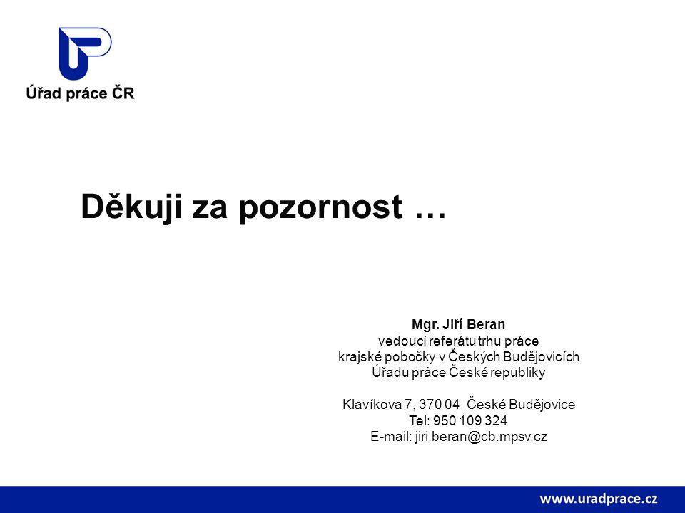 vedoucí referátu trhu práce krajské pobočky v Českých Budějovicích