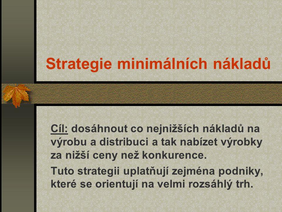 Strategie minimálních nákladů