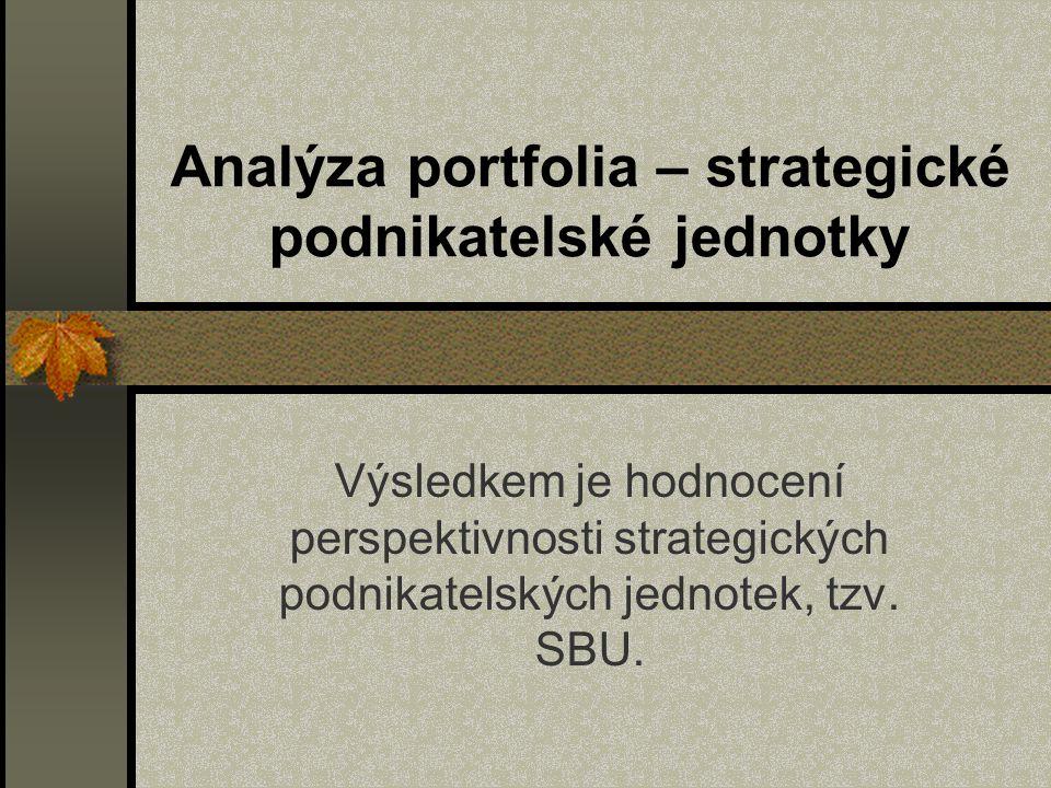 Analýza portfolia – strategické podnikatelské jednotky