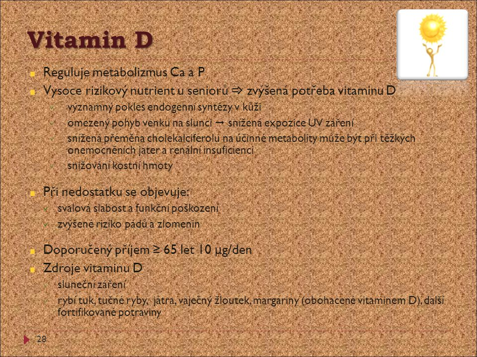 Vitamin D Reguluje metabolizmus Ca a P