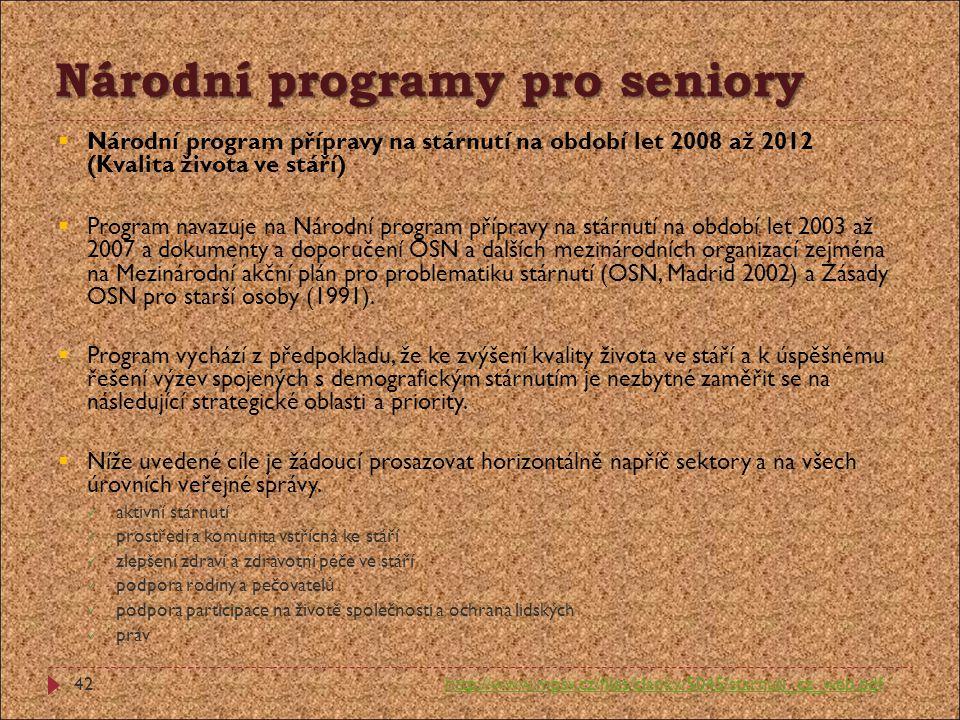 Národní programy pro seniory