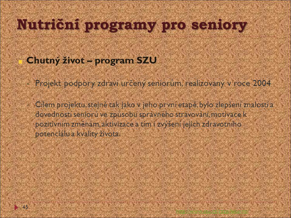 Nutriční programy pro seniory