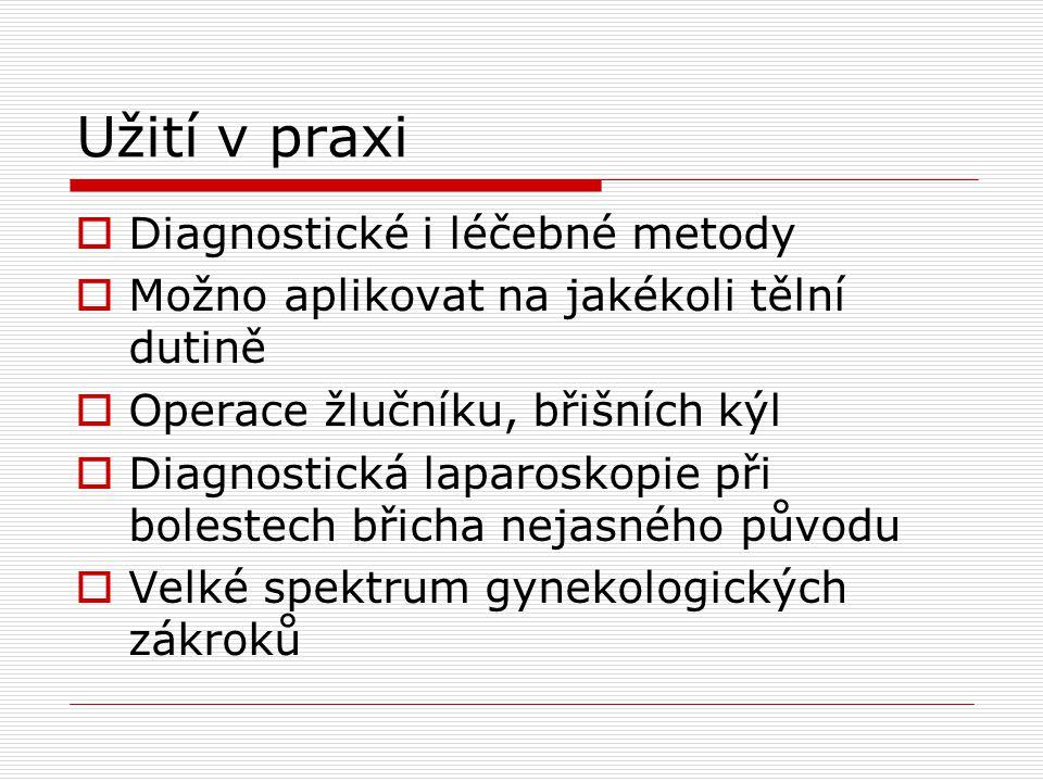 Užití v praxi Diagnostické i léčebné metody