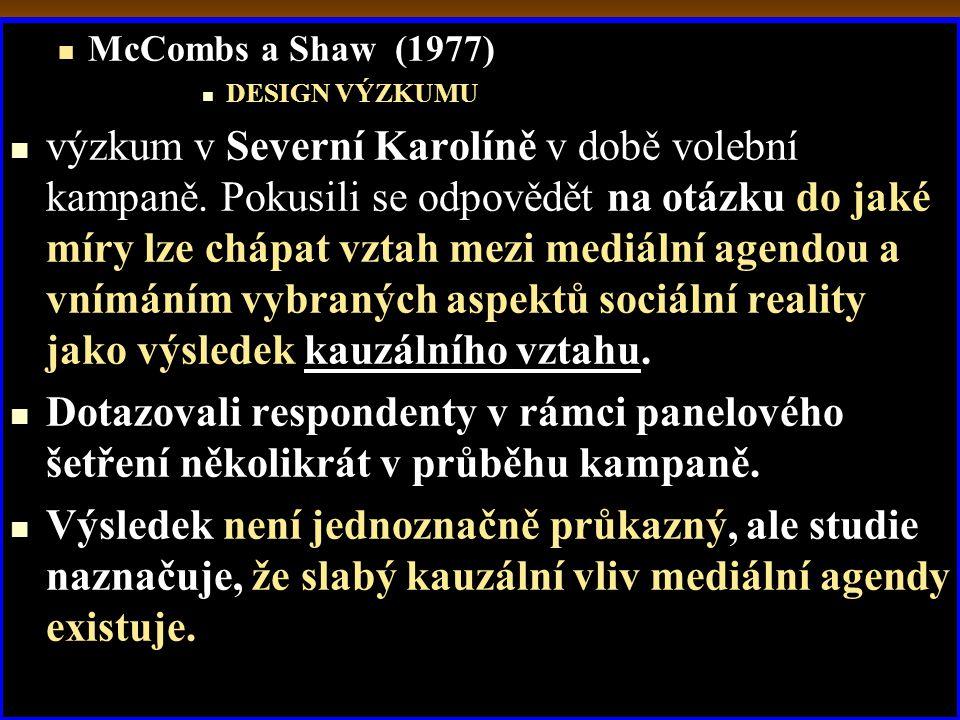 McCombs a Shaw (1977) DESIGN VÝZKUMU.
