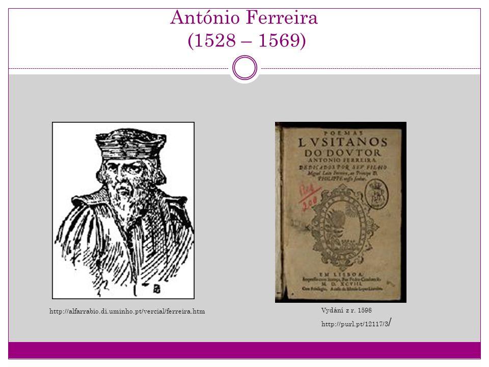 António Ferreira (1528 – 1569) Vydání z r. 1598