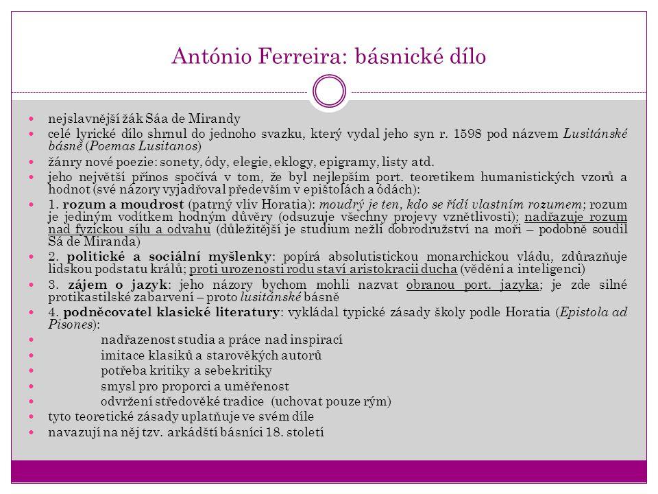 António Ferreira: básnické dílo