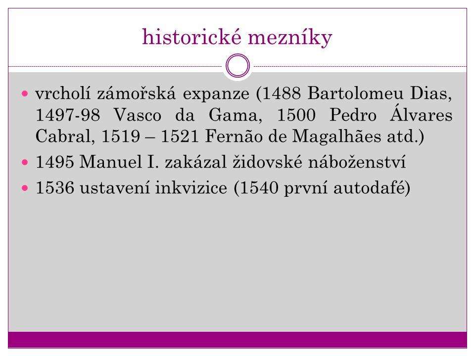 historické mezníky