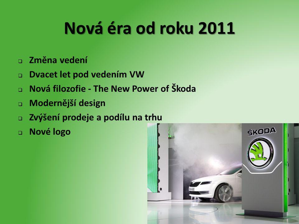 Nová éra od roku 2011 Změna vedení Dvacet let pod vedením VW