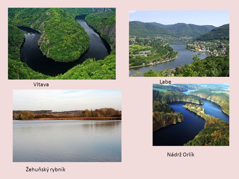 Labe Vltava Nádrž Orlík Žehuňský rybník