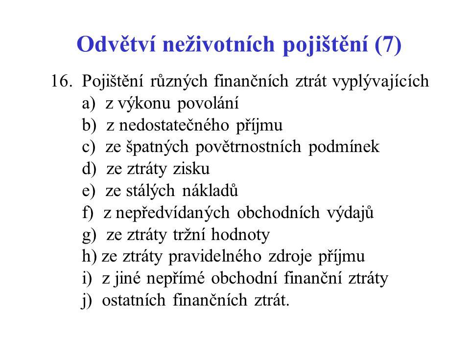 Odvětví neživotních pojištění (7)