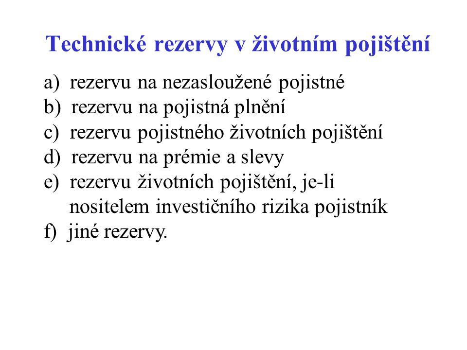 Technické rezervy v životním pojištění