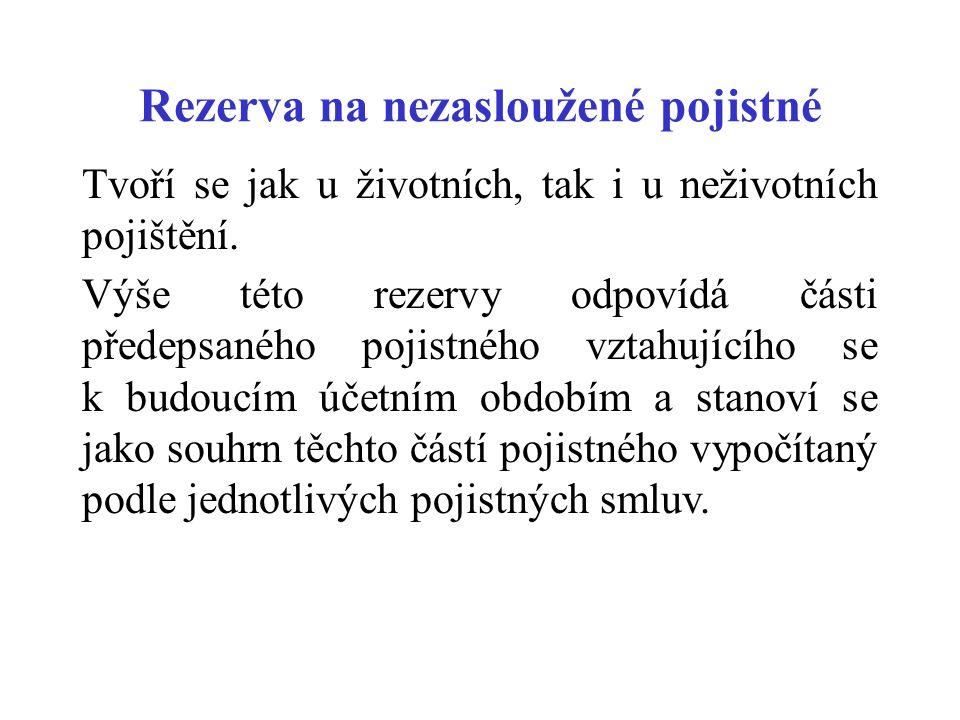 Rezerva na nezasloužené pojistné
