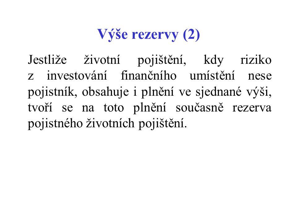 Výše rezervy (2)