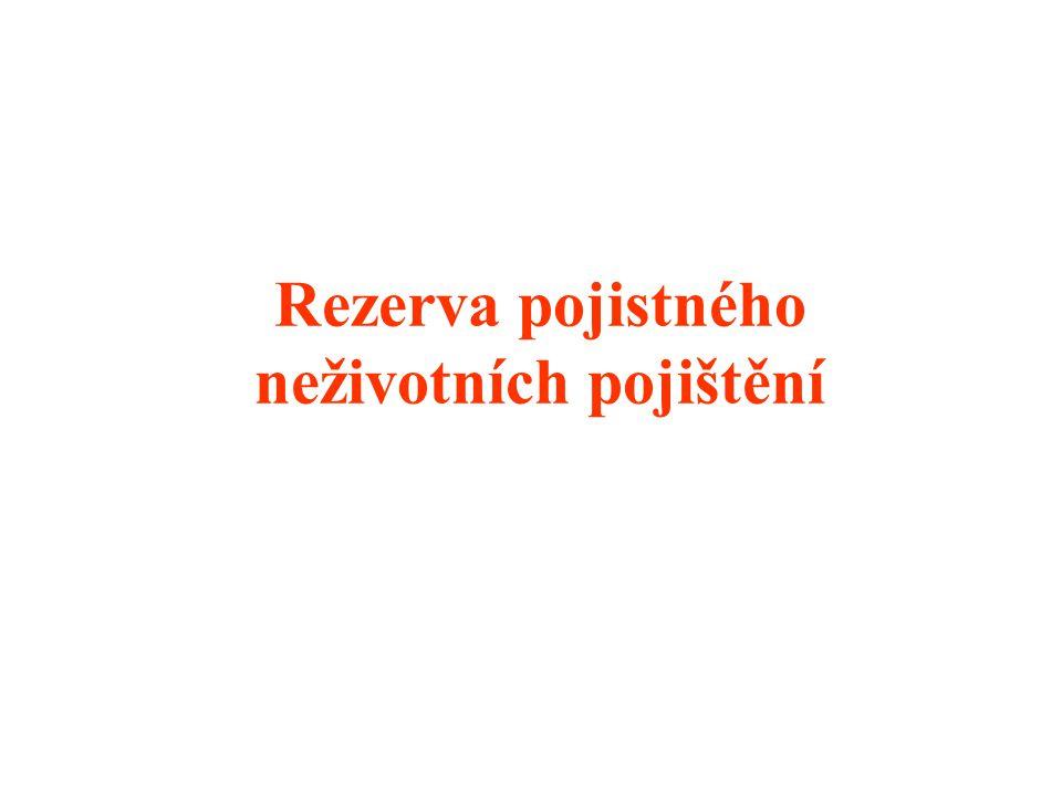 Rezerva pojistného neživotních pojištění