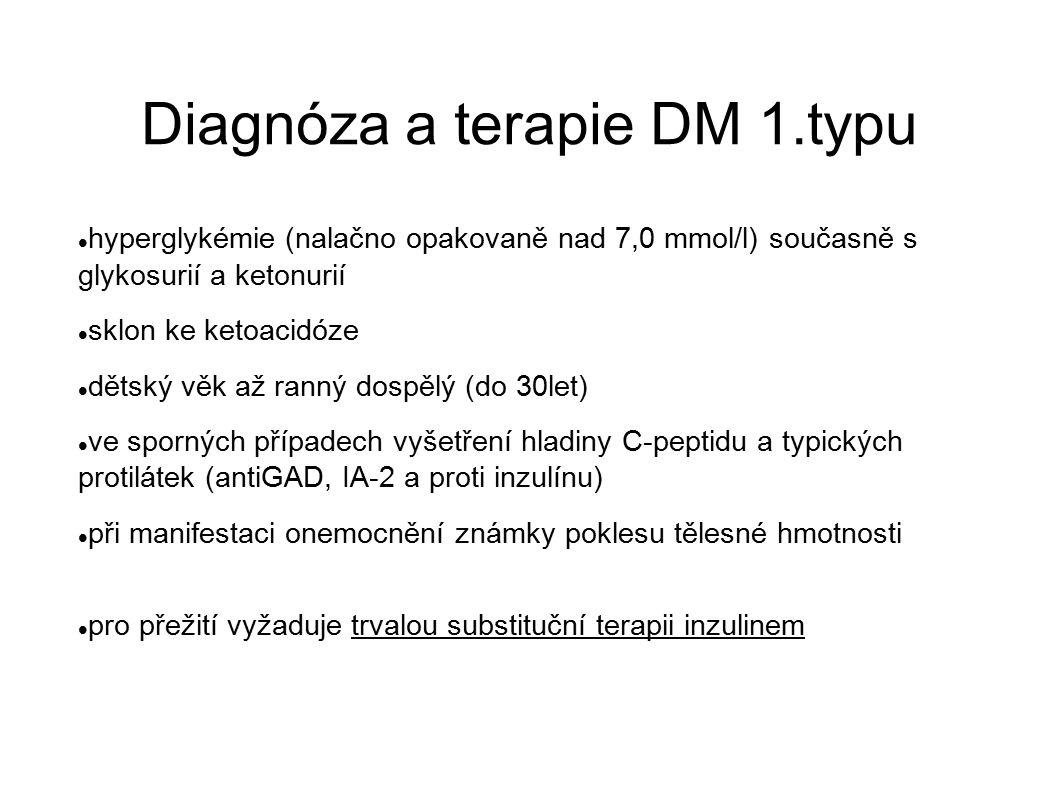 Diagnóza a terapie DM 1.typu