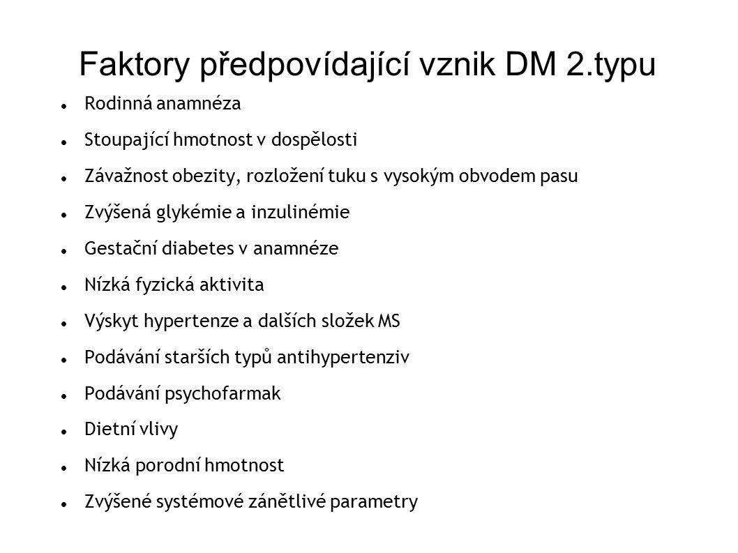 Faktory předpovídající vznik DM 2.typu