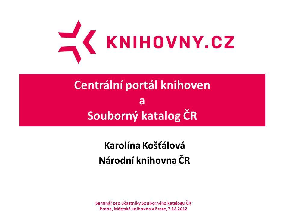 Centrální portál knihoven a Souborný katalog ČR