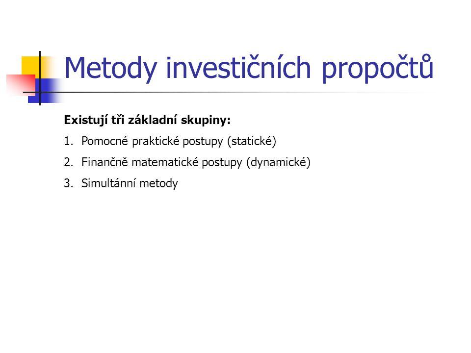 Metody investičních propočtů