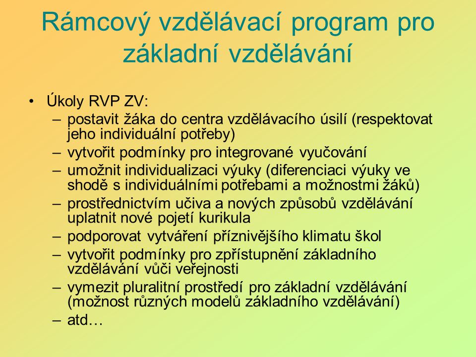 Rámcový vzdělávací program pro základní vzdělávání