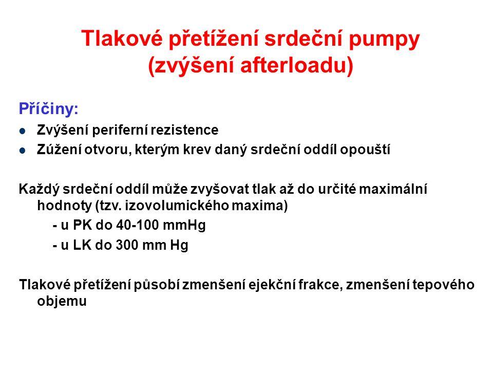 Tlakové přetížení srdeční pumpy (zvýšení afterloadu)