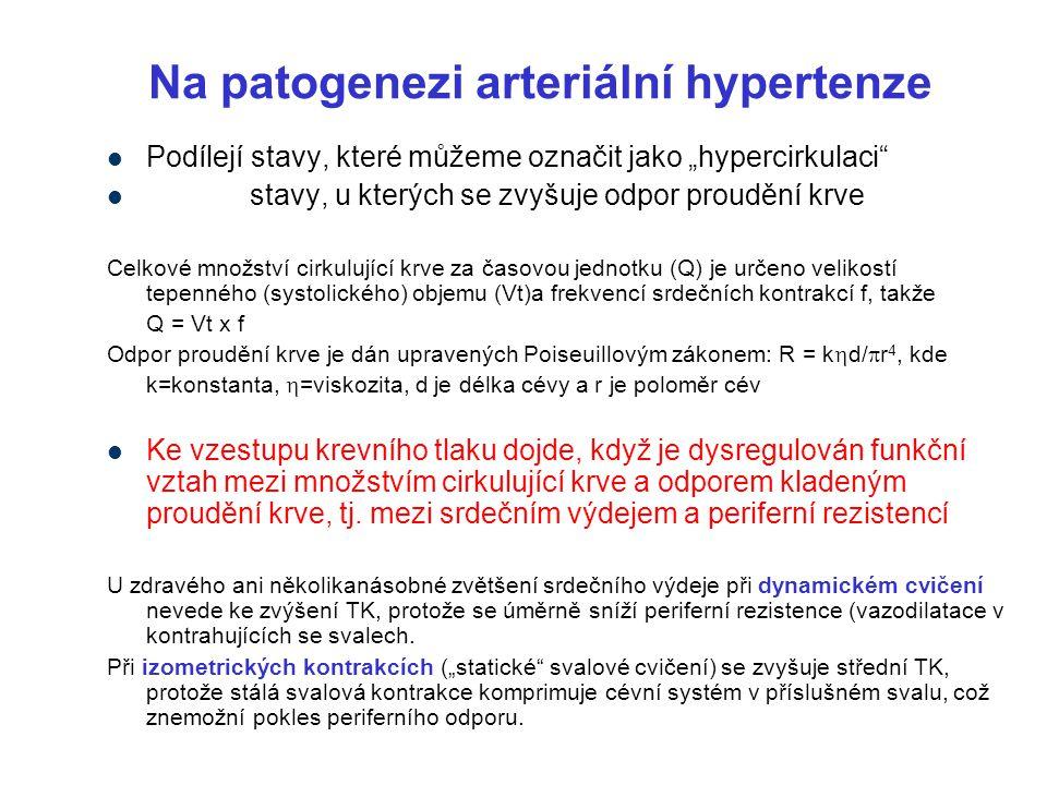 Na patogenezi arteriální hypertenze
