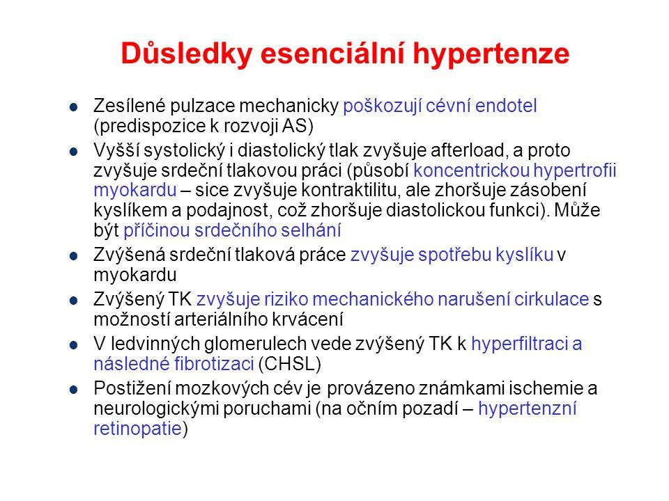 Důsledky esenciální hypertenze