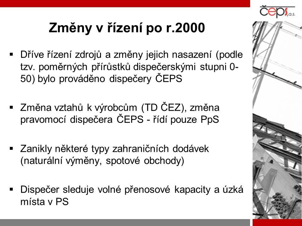 Změny v řízení po r.2000