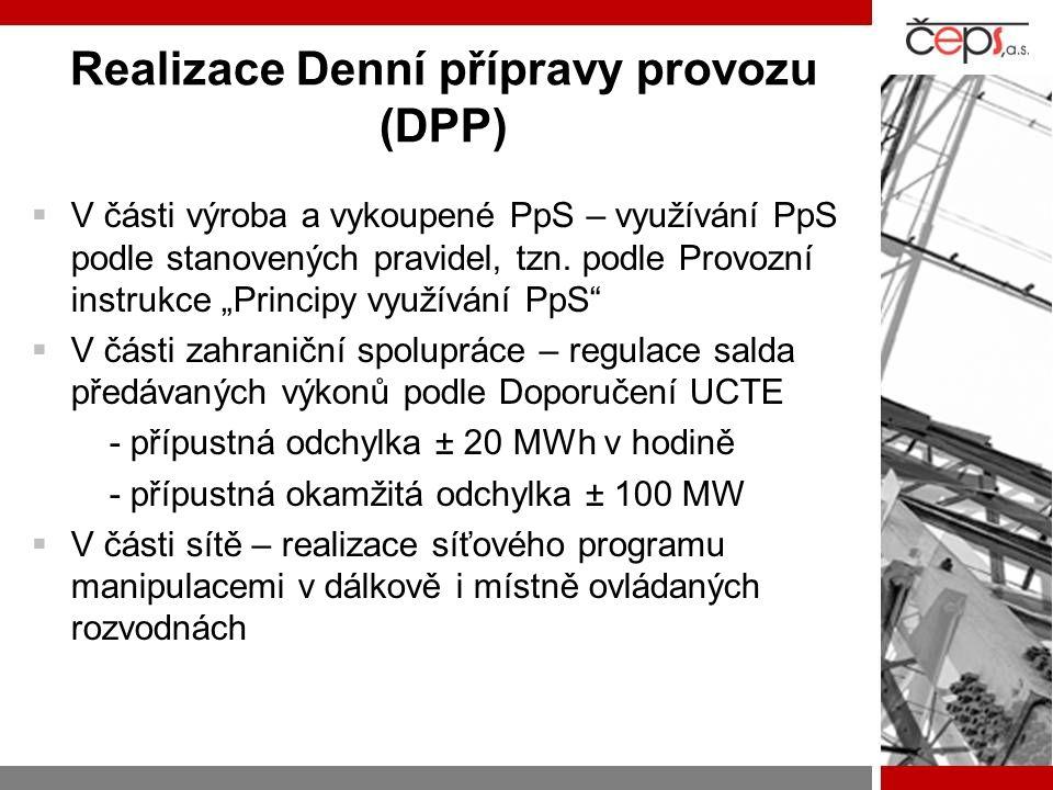 Realizace Denní přípravy provozu (DPP)