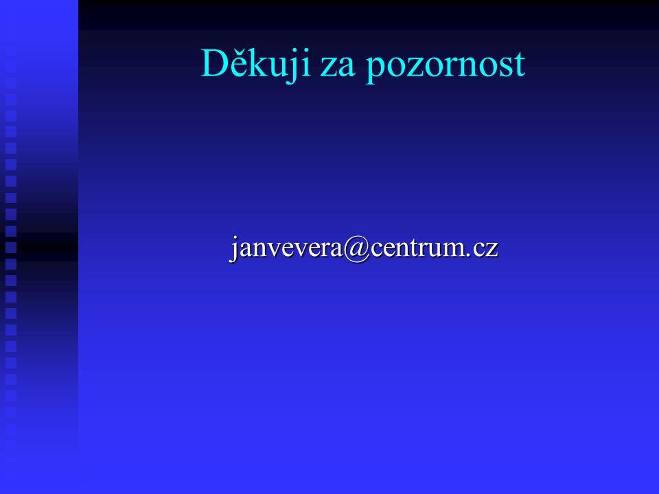 Děkuji za pozornost janvevera@centrum.cz