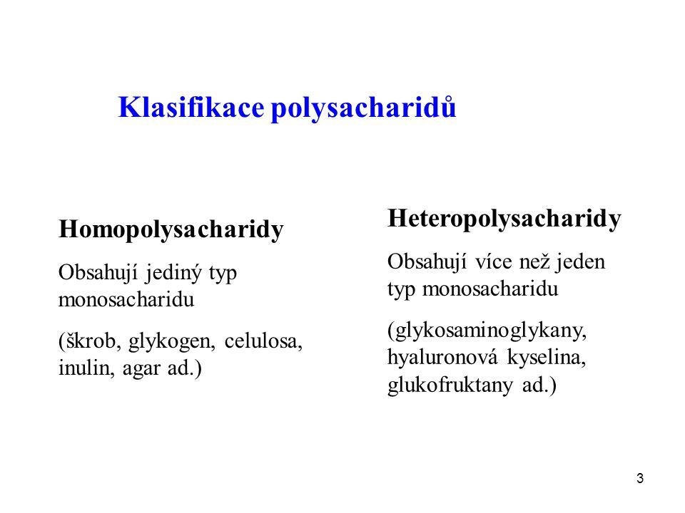 Klasifikace polysacharidů
