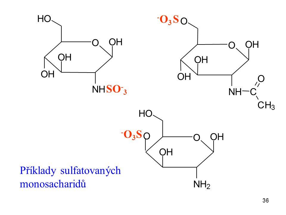 Příklady sulfatovaných monosacharidů