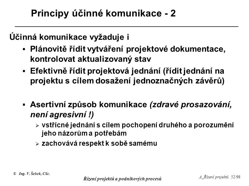 Principy účinné komunikace - 2